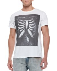 Diesel Trolt Feather Skeleton Tee - Lyst