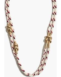 Madewell Ropemix Necklace - Lyst