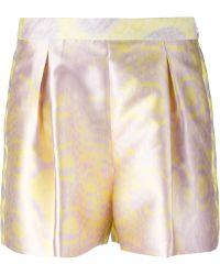 Giambattista Valli Printed Shorts pink - Lyst