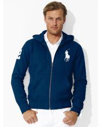 ... Ralph Lauren Hooded Cotton Big Pony Jacket Navy Blue ...