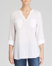 Two By Vince Camuto - Split Neck Tunic - Lyst