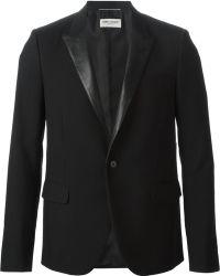 Saint Laurent Black Tuxedo Blazer - Lyst