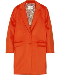 Etro Wool Coat - Lyst