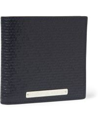 Alexander McQueen Textured-leather Billfold Wallet - Lyst