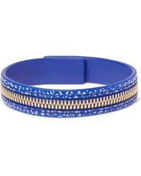 Want Les Essentiels De La Vie - Tambo Zip-detailed Leather Bracelet - Lyst