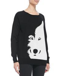 Christopher Fischer Wool Intarsia-knit Wolf Sweater - Lyst