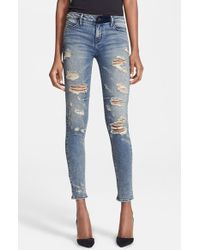 Rta Destroyed Skinny Jeans - Lyst