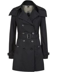 Burberry Brit Reymoore Hooded Trench Coat - Lyst