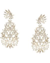 BCBGMAXAZRIA Floral Statement Earrings - Lyst