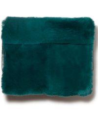 3.1 Phillip Lim Lynus Fur Ipad Case Absinthe Green green - Lyst