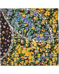 COACH   Floral Patchwork Cotton Silk Oversized Square Scarf   Lyst