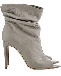 Burberry Burlison Deerskin Peeptoe Ankle Boots - Lyst