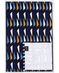 Paul Smith | Blue Triangle Pattern Towel | Lyst