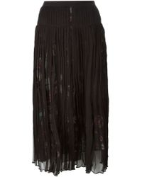 McQ by Alexander McQueen Pleated Midi Skirt - Lyst
