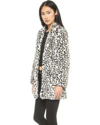 Pam & Gela - Faux Fur Coat  Leopard - Lyst
