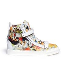 Giuseppe Zanotti 'London' Comic Strip Print Leather High Top Sneakers - Lyst