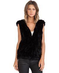 Jocelyn Rabbit Fur Hooded Vest - Lyst