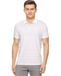 Calvin Klein Engineered Stripe Polo - Lyst