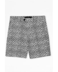 French Connection Gouache Diamond Print Shorts blue - Lyst