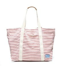 Soludos - Big Beach Bag Classic Stripe Lace Up Classic Stripe Sandal Classic Stripe Original - Lyst