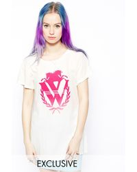 Wildfox T-Shirt with Crest Front Logo - Lyst
