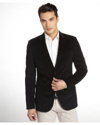 Gucci Blue Black Velvet Two Button Jacket - Lyst