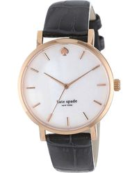Kate Spade Snakeskinembossed Watch White - Lyst