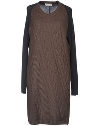Alysi Two-Tone Knit Dress - Lyst