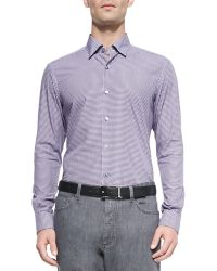 Ermenegildo Zegna Button-Down Gingham Shirt - Lyst
