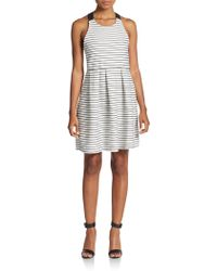 Dex - Striped Crisscross Back Dress - Lyst