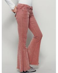 Free People | Womens Cord Super Flare | Lyst