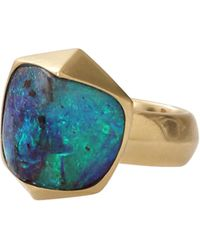 Katherine Jetter - Pyramid Stacked Boulder Opal Ring - Lyst