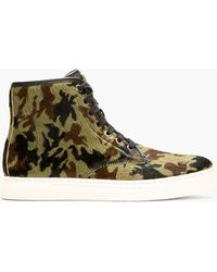 Alejandro Ingelmo Green Calf_hair Camo Josh High_top Sneakers - Lyst