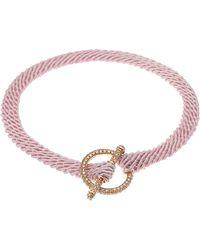 Ruby Kovo - Pink Champagne Diamond Toggle Bracelet - Lyst