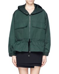 Stella McCartney Drawstring Peplum Parka Jacket - Lyst