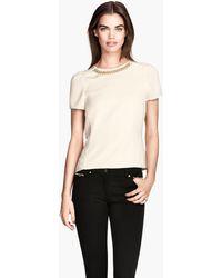H&M Short-sleeved Blouse - Lyst