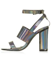 Topshop Relish Metallic Sandals - Lyst