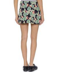 For Love & Lemons - Aloha Skirt - Bird Of Paradise Black - Lyst