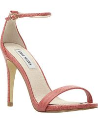 Steve Madden Stecy Reptile-Print Heeled Sandals - For Women - Lyst