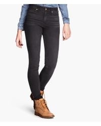 H&M Skinny High Trousers - Lyst