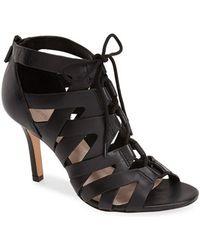 Pour La Victoire 'Camila' Caged Leather Sandal - Lyst