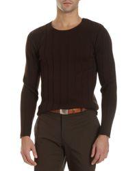 Ralph Lauren Black Label - Button Shoulder Sweater - Lyst