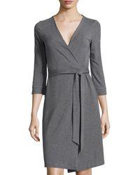 Diane Von Furstenberg New Julian Two 34sleeve Wrap Dress - Lyst