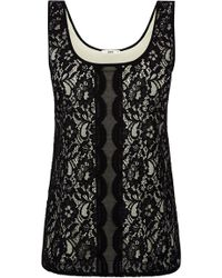 Oasis Scallop Lace Ll Vest Top - Lyst