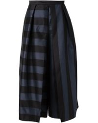 Tibi Striped Skirt - Lyst