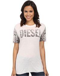 Diesel T-Monsy-E T-Shirt white - Lyst