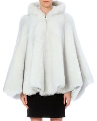 Gareth Pugh Hooded Shearling Cape - Lyst