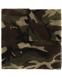 Saint Laurent | Camouflage Scarf | Lyst