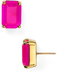 Kate Spade Emerald Cut Stud Earrings - Lyst