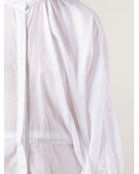 Hussein Chalayan - Band Collar Asymmetric Shirt - Lyst